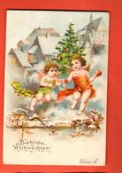 ZBD-03 Joyeux Noël Fröhliche Weihnachten. Anges. Cachet 1904 - Other