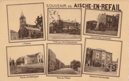 Souvenir De Aische-en-Refail ,multivues,église ,chateau,écoles,maison Communale,rue - Eghezée