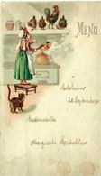 Menu - Molsheim 29 Septembre 1930 (Mutschler) (10,3 X 17,6 Cm) / Cuisine Chat Coq /GP82 - Menus