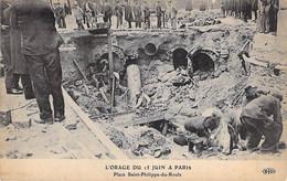 EVENEMENT Catastrophe - PARIS - L'ORAGE Du 15 JUIN - Place St Philippe Du Roule - CPA - Event Isaster Katastrophe - Rampen