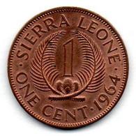 Sierra Leone / 1 Cent 1964  / SUP - Sierra Leone