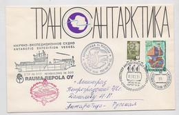 ANTARCTIC Russkaya Station 35 SAE Base Pole Mail Cover USSR RUSSIA Ship - Bases Antarctiques