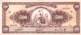 Peru P.87 500 Soles 1962 Xf - Perú
