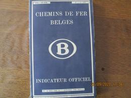 CHEMINS DE FER BELGES INDICATEUR OFFICIEL N° 1 DE 1950 DU 14 MAI 1950 AU 7 OCTOBRE 1950 INCLUS - Railway & Tramway