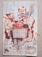 DFJ Yugoslavia / Propaganda - Children Partisans, Musicians ( Illustrated Greeting Card ) - Yugoslavia