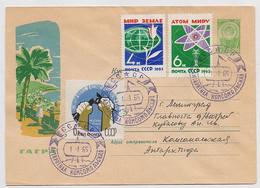 ANTARCTIC Komsomolskaya Station 9 SAE Base Pole Mail Cover USSR RUSSIA Atom Electricity - Bases Antarctiques