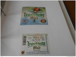 .ETIQUETTE BIERE TROUBLETTE BIO - Birra