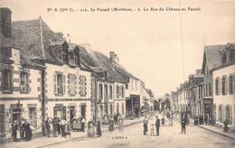 LE FAOUET  -  La Rue Du Chateau  ..tres Animée (edts Rosa ) - Le Faouet