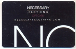 Necessary Clothing U.S.A.  Gift Card For Collection, Without Value # 1 - Gift Cards