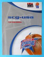 YUGOSLAVIA Vs USA - 2004 Basketball Match Programme * NBA LeBron James Allen Iverson Tim Duncan Dwayne Wade Carmelo A. - Sin Clasificación