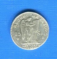 15  Sols  1791  I  Limoge - 1789-1795 Period: Revolution
