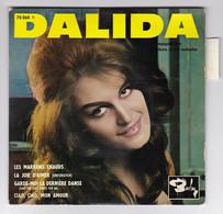 EP 45 TOURS DALIDA LES MARRONS CHAUDS 70360 BARCLAY BIEM En 1961 Avec Languette - Discos De Vinilo