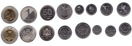 Georgia - Set 8 Coins 1 2 5 10 20 50 Tetri 1 2 Lari 1993 - 2006 UNC Lemberg-Zp - Georgia