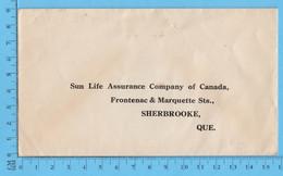 Enveloppe Commercial - Sun Life Co - Rue Frontenac Et Marquette Sherbrooke Que - Sin Clasificación