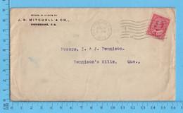 Lettre Commerciale 1909 - J.S. Mitchell  Sherbrooke Que To Richmond Que - Cartas