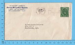 Stationary 1¢ Canada  1950 - Commercial Envelope - Société St-Jean-Baptiste Sherbrooke Que - 1937-1952 Reinado De George VI