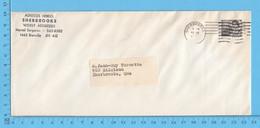 Entiers Postaux -Reine Elisabeth 6¢ , Commercial Envelope Adress Hebdo Sherbrooke Que - 1953-.... Reinado De Elizabeth II