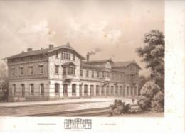 Salzungen 1862 Weise A Sillich Bahnhof  - Litho Lithographie Allemagne Architecture - Lithografieën