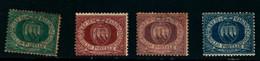 20822) SAN MARINO-Cifra E Stemma In Cornice Ovale - 30 Dicembre 1894- 4VALORI MNH** - Saint-Marin