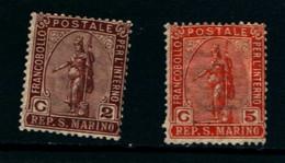 20823) SAN MARINO-Statua Della Libertà - 5 Febbraio 1899-SERIE COMPLETA MLH* - Saint-Marin