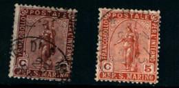 20824) SAN MARINO-Statua Della Libertà - 5 Febbraio 1899-SERIE COMPLETA USATA - Saint-Marin