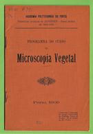 Porto - Programa Do Curso De Microscopia Vegetal De 1909 - Academia Politécnica - Agricultura - Portugal - Programas