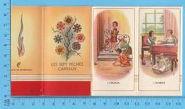 Images Pieuses  - 7 Images , Les Sept Péchés Capitaux, Made In Netherlands - Imágenes Religiosas