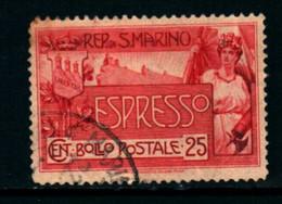 20827) SAN MARINO-25 C. Monte Titano - ESPRESSI - 25 Aprile 1907 Serie In Dettaglio-SERIE COMPLETA USATA- - Saint-Marin