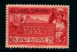 20828) SAN MARINO-25 C. Monte Titano - ESPRESSI - 25 Aprile 1907 Serie In Dettaglio-SERIE COMPLETA MLH* - Saint-Marin