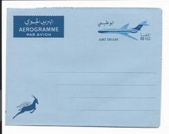 Abu Dhabi  LF  4 ** -  40 Fils  Flugzeug Aerogramm - Abu Dhabi