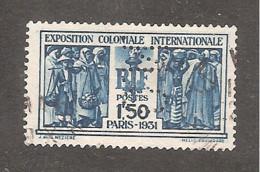 Perforé/perfin/lochung France No 274 C.N. Comptoir National D'Escompte (304) - Perforadas