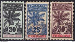 Haut-Sénégal & Niger N° 7, 8, 9 - Used Stamps