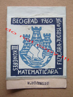 BELGRADE 1960, III CONGRESS OF MATHEMATICIANS AND PHYSICIANS OF YUGOSLAVIA - Patches
