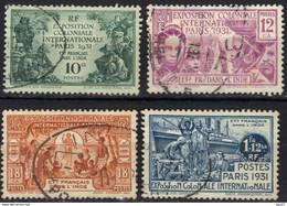 Inde N° 105 - 108 Exposition Coloniale De Paris - Usados