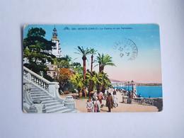 CPA Monaco, Monte Carlo, Le Casino Et Les Terrasses, 1932 - Terrassen