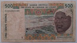 """Togo -  West African States 500 Francs 1997  Circulated  """"B"""" Banque Centrale Des Etates De L'Afrique De L'Ouest - Togo"""
