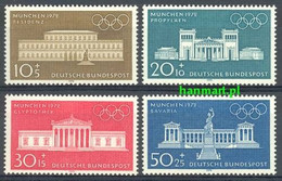 Germany - Federal Republic 1970 Mi 624-627 MNH ( ZE5 GRM624-627 ) - Summer 1972: Munich