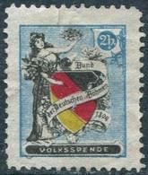 Austria 1894 Bund Der Deutschen In Böhmen 2h Volksspende Charity Donation Stamp Fee Revenue Cinderella Bohemia Czechia - Private Stamps