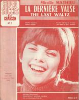 """""""La Dernière Valse"""" (The Last Waltz) Mireille Mathieu - Paroles Originales Et Musique Les Reed Et Barry Mason - Music & Instruments"""