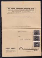 Ziffer 2 Pfg. 3x Auf Firmendrucksache (Briefmarkenhaus Hermannplatz, - Gemeinschaftsausgaben
