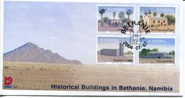 Namibia Mi# 1135-8 Used On FDC - Buildings - Namibië (1990- ...)