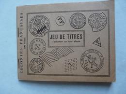TIMBRES - JEU DE TITRES S'adaptant Sur Tout Album : Colonies Françaises 640 Titres - Inde Française - Indochine - Canton - Verzamelingen