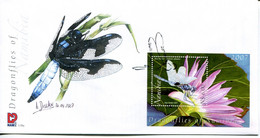 Namibia Mi# Block 66 Used On FDC - Fauna Dragonflies - Namibia (1990- ...)