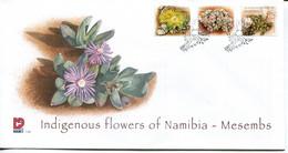 Namibia Mi# 1247-9 Used On FDC - Flora - Namibië (1990- ...)