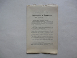 TELEMOTEUR A GOUVERNER - MACTAGGART, SCOTT& CO, LTD. - Do-it-yourself / Technical