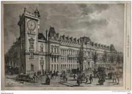 Paris - Le Nouveau Ministère De La Guerre, Boulevard Saint-Germain -  Page Original 1877 - Documenti Storici