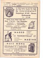 Pub Reclame - Ciné Cinema Bioscoop Lumen - Oudenaarde - Vedette Star Madeleine Robinson - Cinema Advertisement
