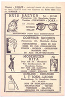 Pub Reclame - Ciné Cinema Bioscoop - Palace - Merelbeke Station - Vedette Star Tony Curtis - Cinema Advertisement