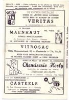 Pub Reclame - Ciné Cinema Bioscoop - Palace Ritz - Oostende  - Vedette Star Cornel Wilde - Cinema Advertisement