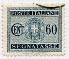 Italie - Italy - Italien Taxe 1934 Y&T N°T35 - Michel N°P32 (o) - 60c Chiffre - Segnatasse
